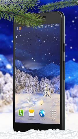 android Schnee Live-Hintergründe Screenshot 0