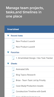 Smartsheet Project Management- screenshot thumbnail