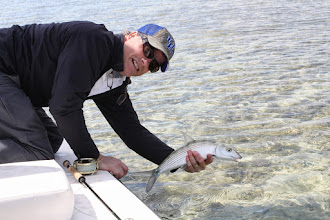 Photo: Chip Harmeling and his 1st Bonefish ever!- Andros Island Bonefish Club