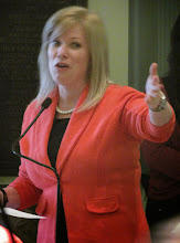 Photo: Senator Nicole Poore acknowledges advocates gathered in the Senate during Disability Day at Legislative Hall prior to the introduction of the ADA 25 proclamation on 3.25.15.
