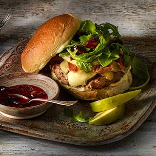 Brie-Cranberry Turkey Burgers.