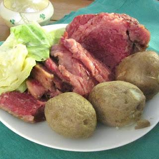 Irish American Corned Beef and Cabbage.