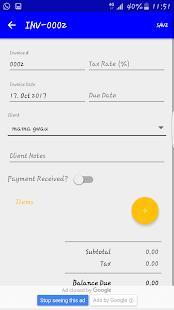 Mobi Invoice - náhled