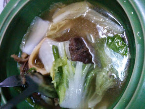 Photo: Dinner with Sir Oliver and Ms. Smile. Here's the bulalo. :)