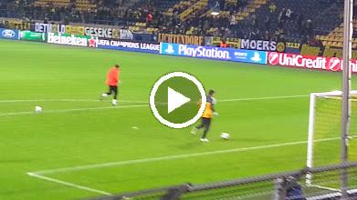 Video: Unsere Torleute beim Aufwärmen - das Stadion füllt sich langsam