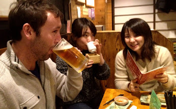 Photo: The sake drinkers. Don't ask about the beer.