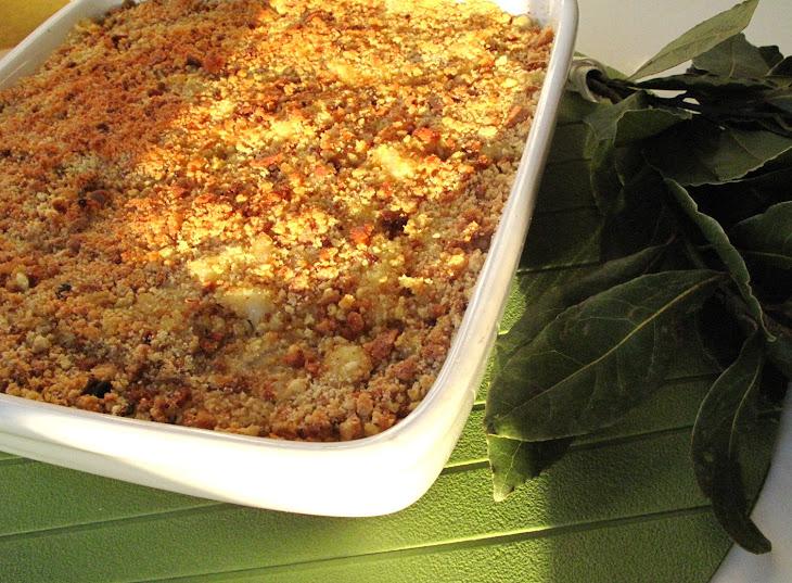 Cod with Cornbread and Spinach Recipe