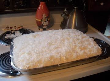 Pineapple Coconut Surprise Cake