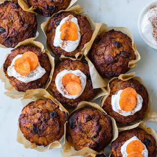 Healthy Carrot Cake Muffins.