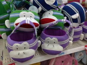 Photo: These sock monkey Easter baskets were adorable.  Too bad they weren't quite what I was looking for.  Fortunately, there were lots of other choices at great prices.