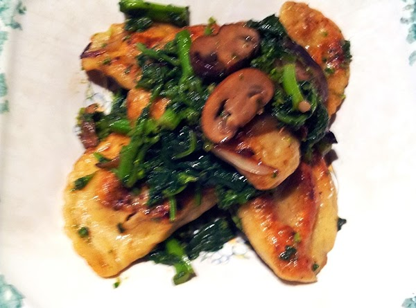 Pan Seared Pierogies W/broccoli Rabe And Mushrooms Recipe