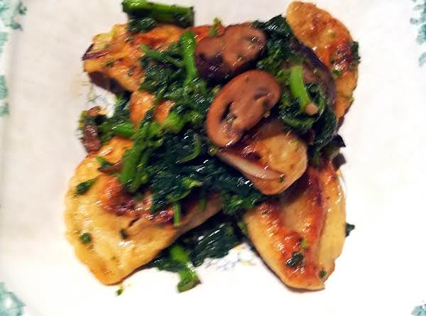 Pan Seared Pierogies W/broccoli Rabe And Mushrooms Recipe