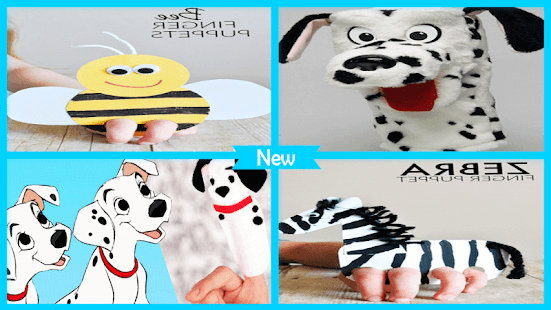 Cute Dalmatian Puppet Craft - náhled