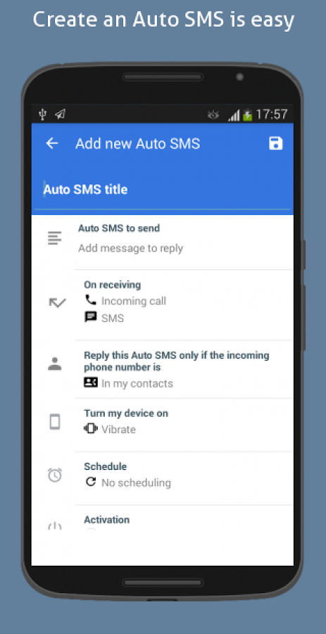 Auto SMS Reply- screenshot
