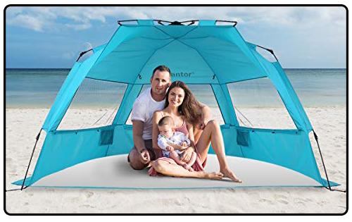 "Alvantor Beach Tent Super Bluecoast 96"" x 51"" x 52"", TEAL HUB 6"