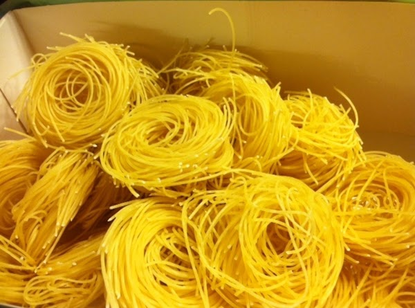This is what the pasta nests looks like before cooking