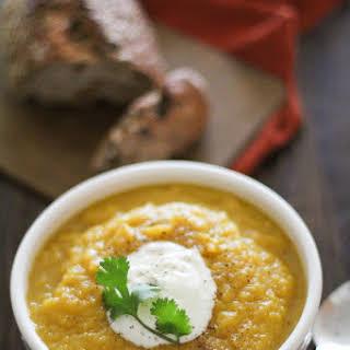 Crock Pot Butternut Squash and Parsnip Soup.
