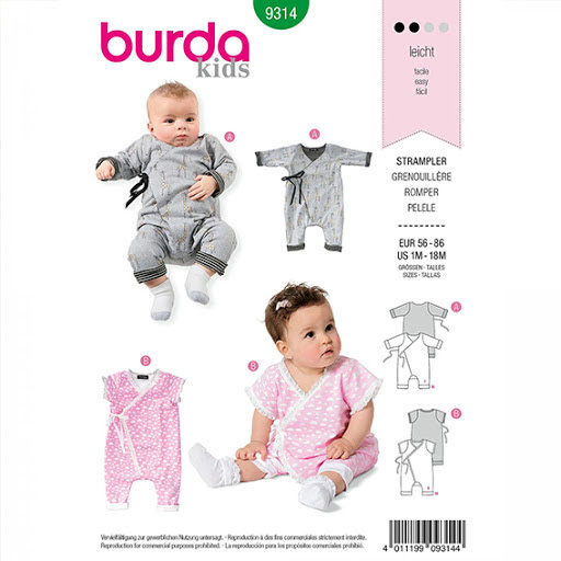Burda 9314 - jumpsuit / body -baby