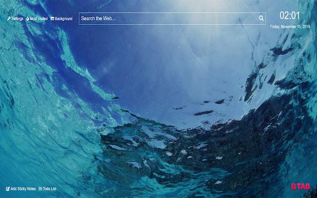 Underwater Ocean Wallpaper for New Tab