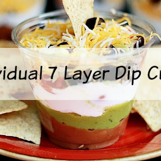 Easy Individual 7 Layer Dip Cups