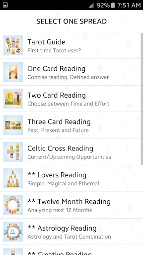 Tarot Card Spreads Reading by InvilabsTeam (Google Play, United