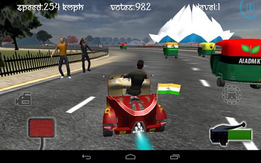 Race City Delhi- Rickshaw Rush screenshot 22