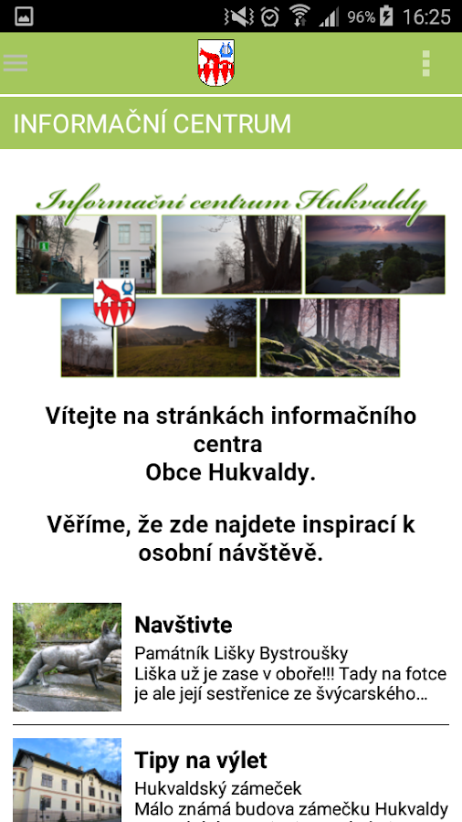 Obec Hukvaldy- screenshot