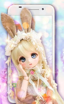 Cute Girl Theme Princess Doll Girly Wallpaper HD Poster