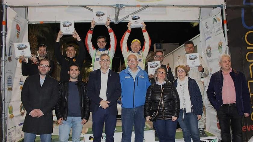 El podio de ganadores