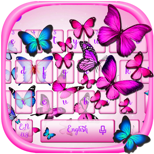 Vivid Butterfly Keyboard Theme