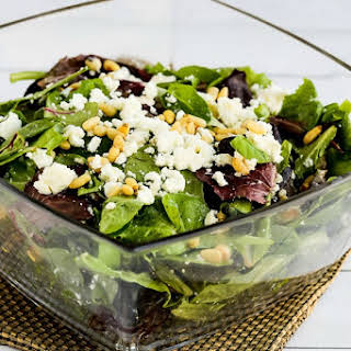 Mary's Spring Mix Salad with Feta and Pine Nuts.