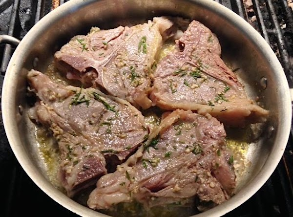 Heat 1 tbsp oil in a heavy, oven proof skillet. Sear chops on both...