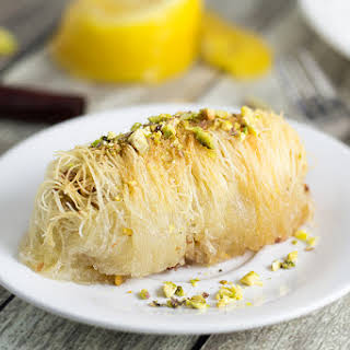 Kataifi - Greek Nut and Honey Pastry Rolls.