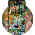 Hand painted fairy tale dreamland theme F9 Pro icon