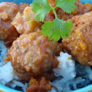 Turkish Baharat Meatballs with Lentil Pilaf.