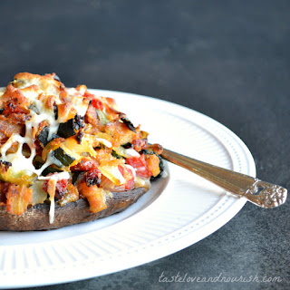 Vegetable Stuffed Portabella Mushrooms