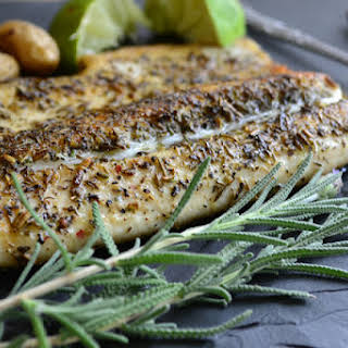 Pan Fried Trout with Herbes de Provence.