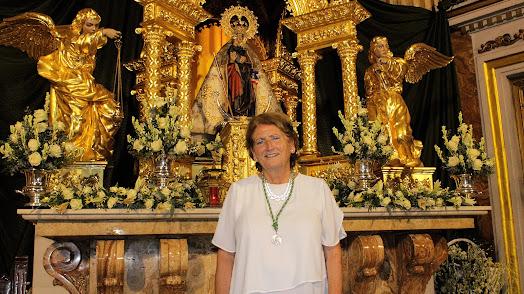 Concha Alarcón, camarera mayor de la Hermandad de la Virgen del Mar.