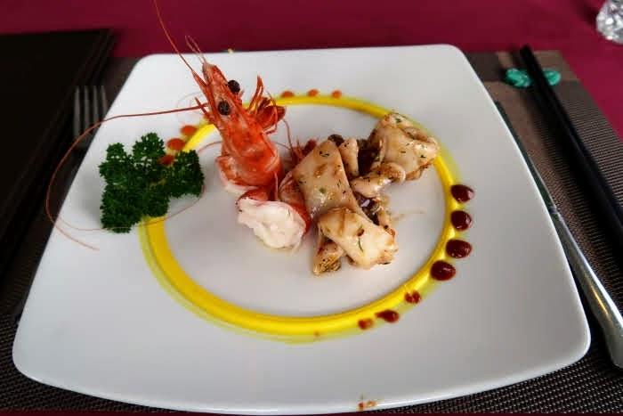 shrimp squid apetizer