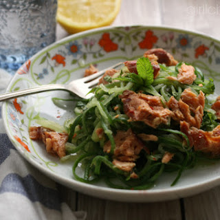 "Salmon and Cucumber ""Noodle"" Salad"