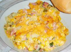 Creamed Corn & Ham Casserole Recipe