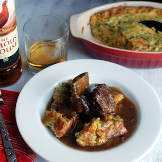 Scotch Braised Short Ribs with Jalapeno Cheddar Cornbread.