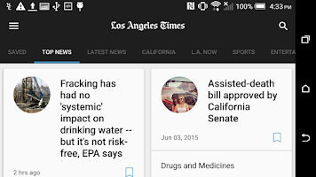 Screenshot of LA Times