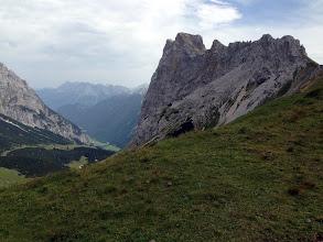 Photo: Gehrenspitz (Summit) in top center).