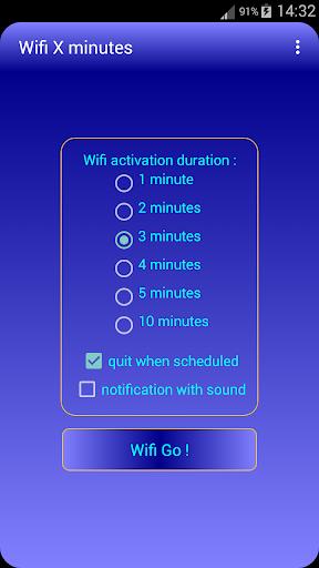 Wifi X minutes