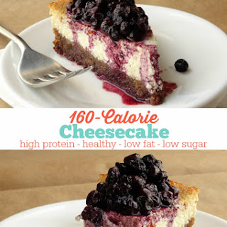 Healthy 160-Calorie Cheesecake.