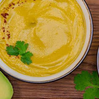 Creamy Sweet Potato Avocado Soup.