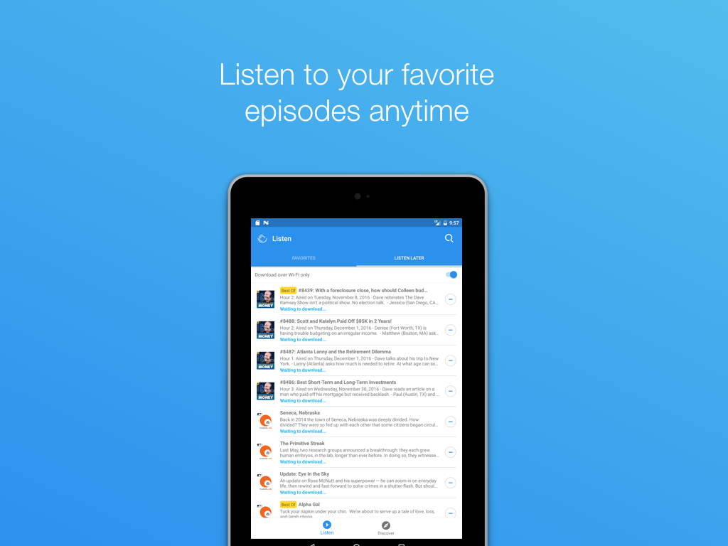 Podcast App- screenshot