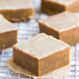Pumpkin Spice Bars with Bourbon Butter Glaze