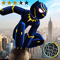 Panther Stickman Rope Hero Crime City Battle icon